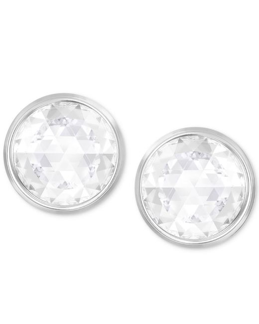 Swarovski - Metallic Silver-tone Crystal Reversible Stud Earrings - Lyst