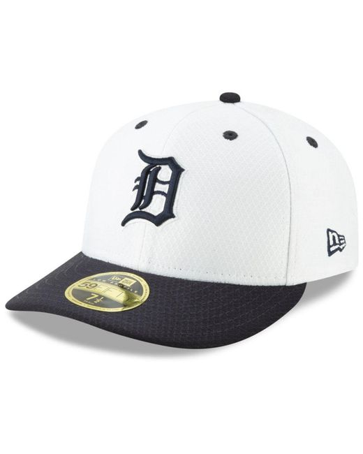 the latest c4c4f 85b70 KTZ - White Detroit Tigers Spring Training 59fifty-fitted Low Profile Cap  for Men ...