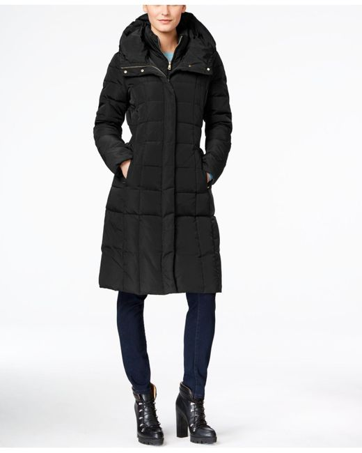 Cole Haan - Black Layered Maxi Puffer Coat - Lyst