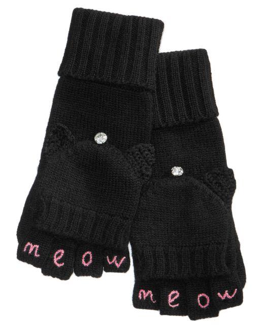 Kate Spade | Black Meow Pop-top Mittens | Lyst