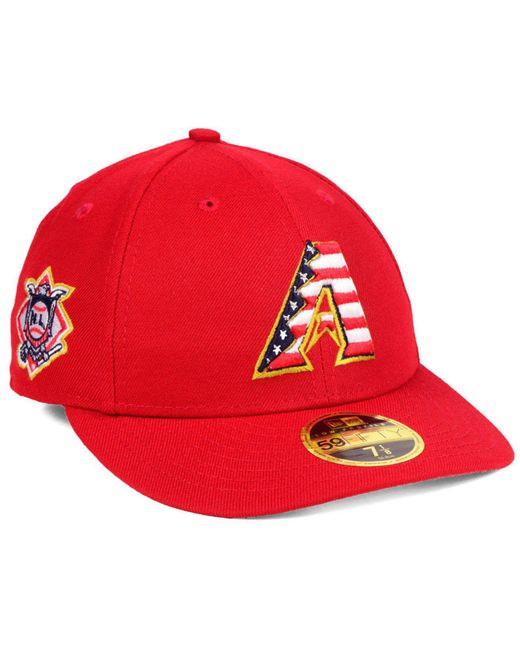 KTZ - Red Arizona Diamondbacks Stars And Stripes Low Profile 59fifty Fitted Cap 2018 for Men - Lyst