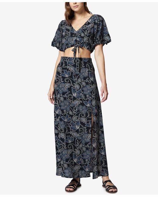 Sanctuary - Black Printed Crop Top & Maxi Skirt Set - Lyst