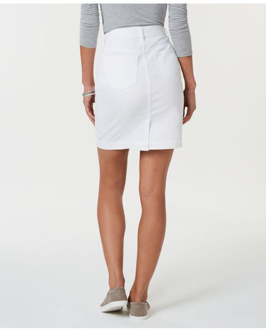 15b7e7507 Style & Co. Petite Denim Skirt, Created For Macy's in White - Save ...