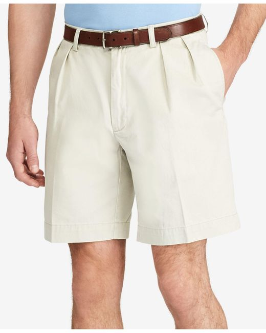 Polo Ralph Lauren | Blue Classic-fit Pleated Chino Shorts for Men | Lyst