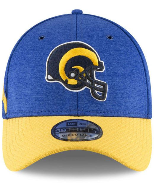 74bb53ce38ef10 ... KTZ - Blue Los Angeles Rams On Field Sideline Home 39thirty Cap for Men  - Lyst ...