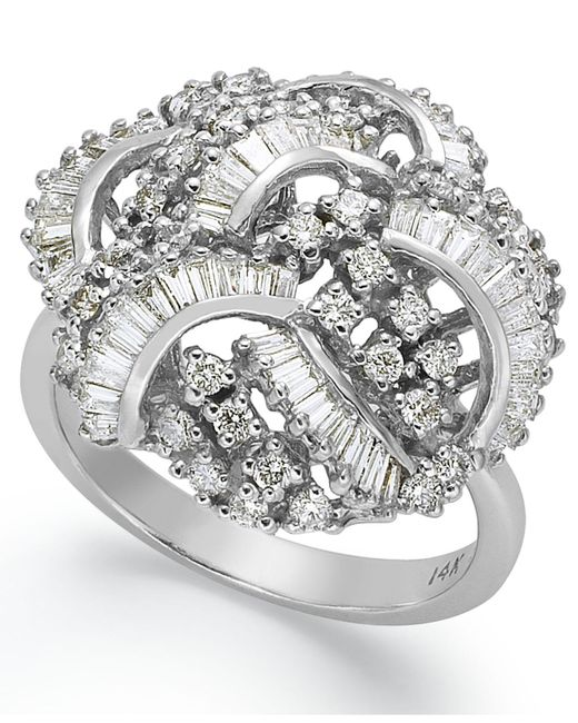 Effy Collection - Metallic Classique By Effy Diamond Swirl Ring (1-1/2 Ct. T.w.) In 14k White Gold - Lyst