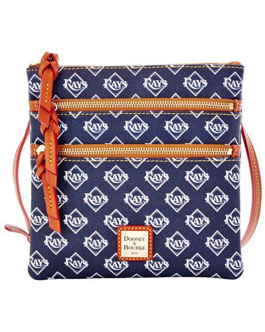 Dooney & Bourke - Blue Tampa Bay Rays Triple-zip Crossbody Bag - Lyst