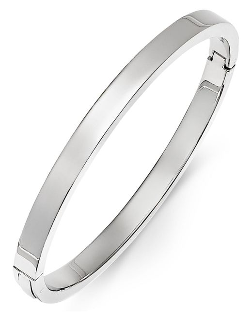 Macy's | Polished Smooth Bangle Bracelet In Metallic Yellow Ion-plated Stainless Steel | Lyst