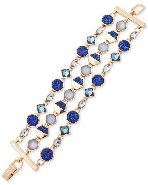 Ivanka Trump | Blue Gold-tone Three-layer Stone Link Bracelet | Lyst