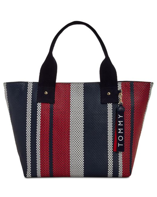 Tommy Hilfiger - Multicolor Classic Tommy Woven Tote - Lyst