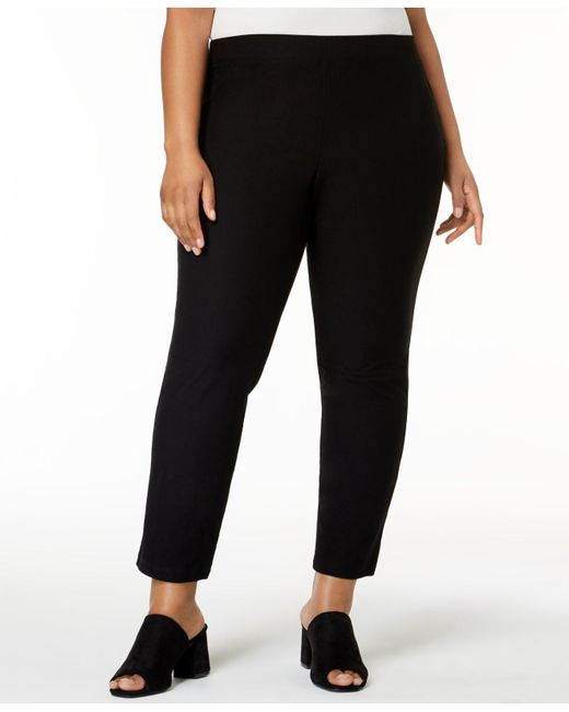 0dfd231064f Eileen Fisher - Black Plus Size System Pull-on Ankle Pants - Lyst ...