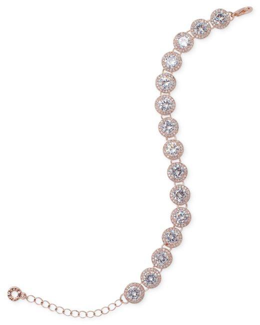 Anne Klein - Metallic Pavé Flex Bracelet - Lyst