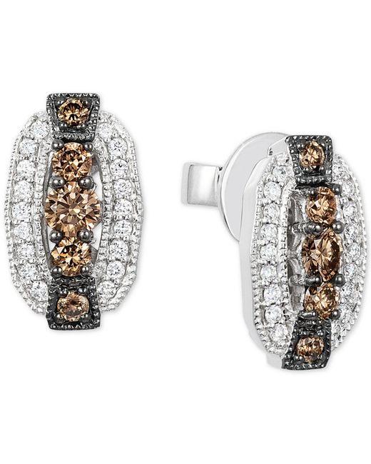 Le Vian - Metallic Chocolatier® Diamond Oval Stud Earrings (1/2 Ct. T.w.) In 14k White Gold - Lyst