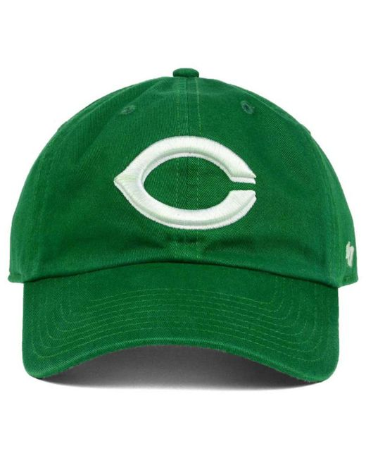 the best attitude c79f5 71cd6 ... france 47 brand green cincinnati reds kelly white clean up cap for men  lyst 7208e cab54