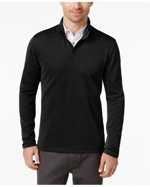 Alfani - Black Men's Ottoman Quarter-zip Sweater for Men - Lyst
