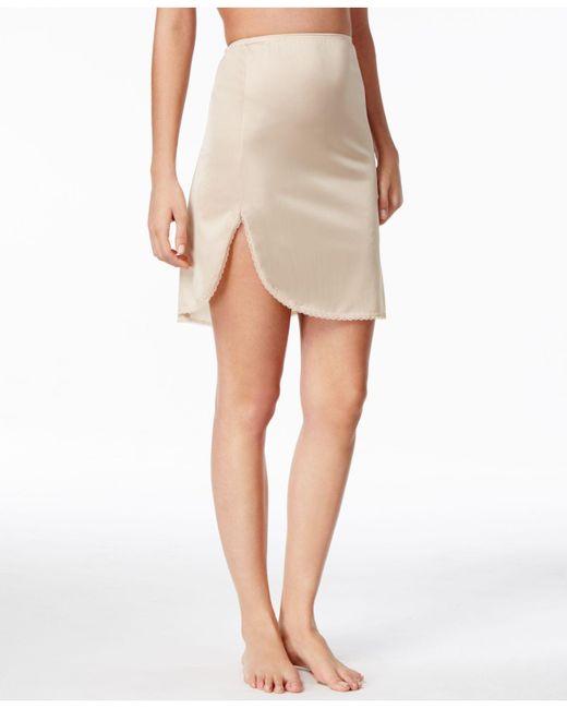 "Vanity Fair - Natural ""daywear Solutions"" 360 Half Slip - Lyst"
