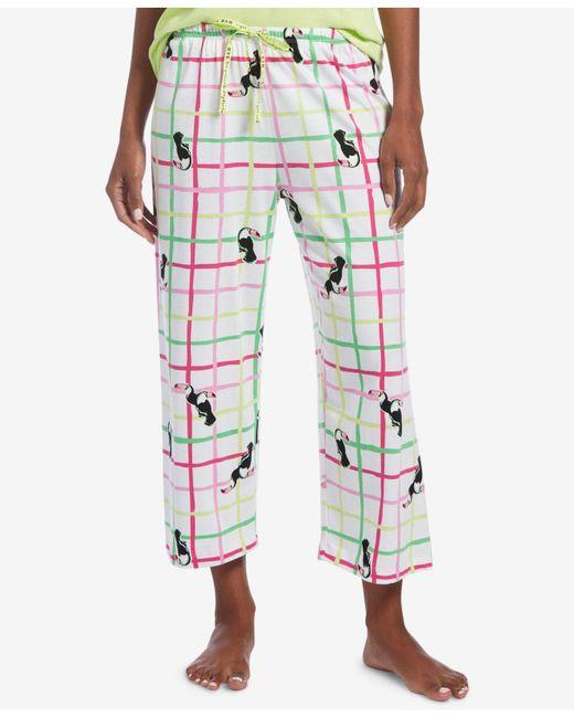 Hue - Multicolor ® Printed Capri Pajama Pants - Lyst