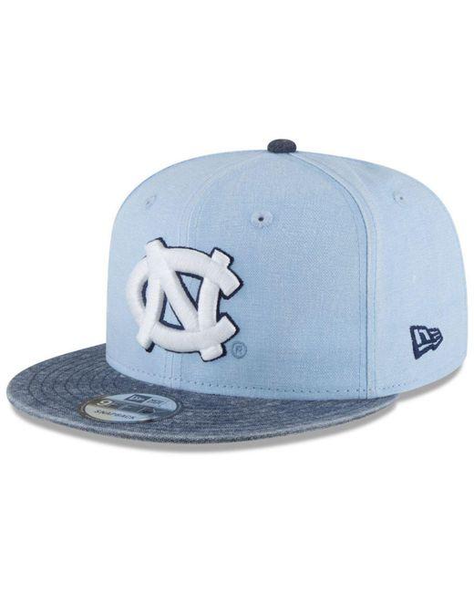 KTZ - Blue North Carolina Tar Heels Rugged Canvas Snapback Cap - Lyst