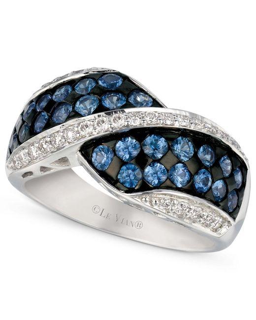 Le Vian - Metallic Ceylon Sapphire (1-1/3 Ct. T.w.) And Diamond (1/4 Ct. T.w.) Ring In 14k White Gold - Lyst