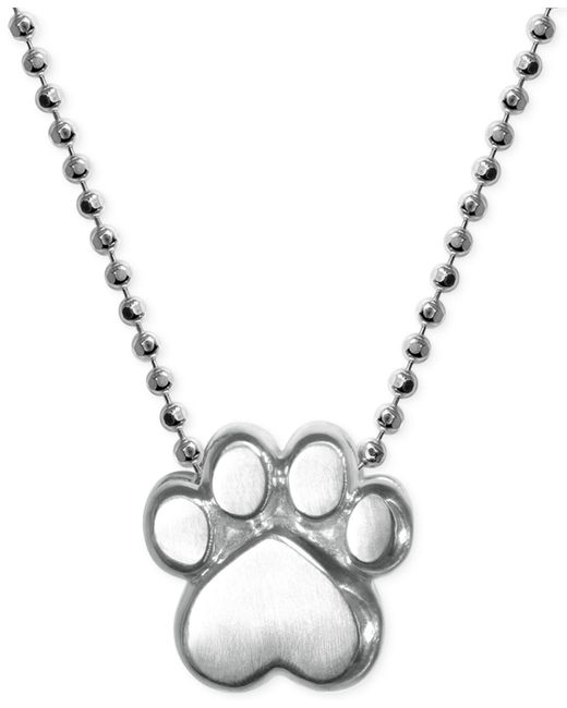 Alex Woo - Metallic Little Activists By Paw Pendant Necklace In Sterling Silver - Lyst