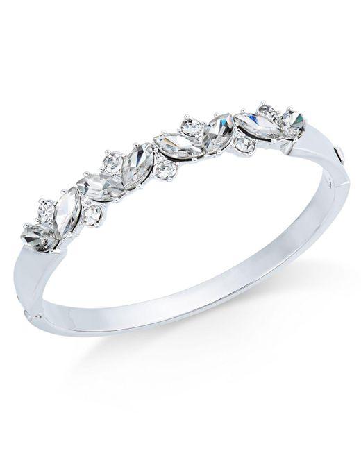 Charter Club | Metallic Silver-tone Crystal Bangle Bracelet | Lyst