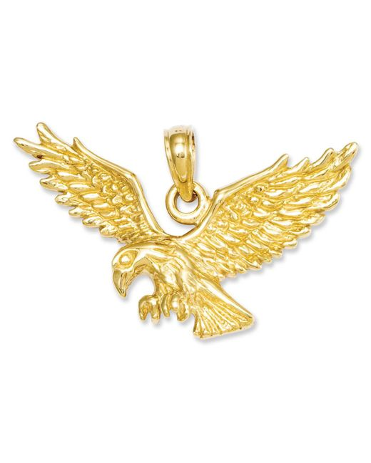 Macy's - Metallic 14k Gold Charm, Solid Polished Eagle Charm - Lyst