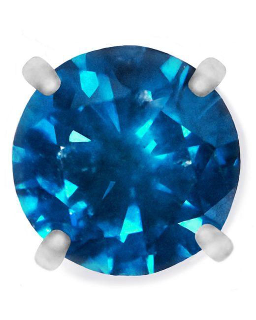 Macy's   Blue Men's Single Stud Diamond Earring In Stainless Steel (1/4 Ct. T.w.)   Lyst