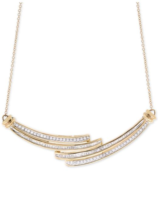 Wrapped in Love - Metallic Diamond Statement Necklace (1/2 Ct. T.w.) In 10k Gold - Lyst