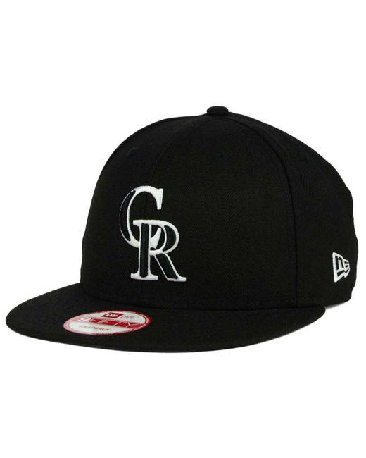 KTZ - Black Colorado Rockies B-dub 9fifty Snapback Cap for Men - Lyst ... 719eaa9838b7