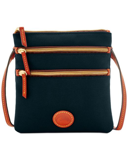 Dooney & Bourke - Black North South Triple Zip Nylon Crossbody - Lyst