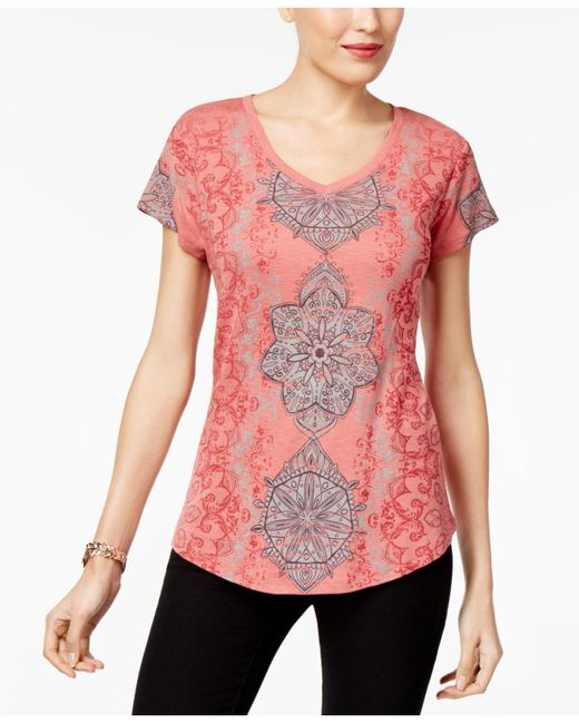 Style & Co. | Multicolor Printed High-low Top | Lyst