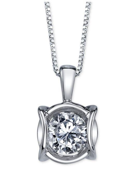 Sirena - Diamond Modern Pendant Necklace (1/4 Ct. T.w.) In 14k White Gold - Lyst