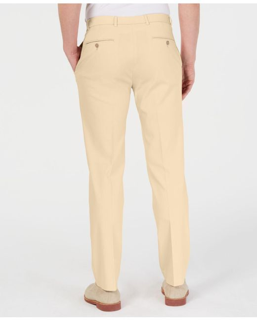 7be89bc22f21ae ... Tommy Hilfiger - Yellow Modern-fit Th Flex Stretch Comfort Solid Dress  Pants for Men ...