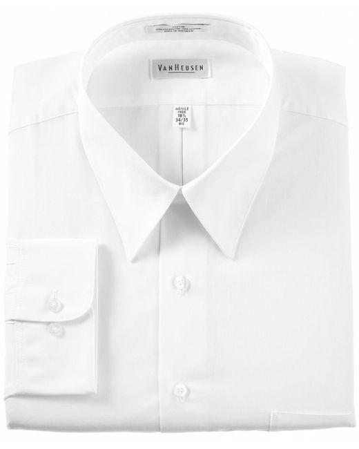 Van Heusen - White Men's Classic-fit Poplin Dress Shirt for Men - Lyst