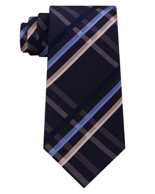 Kenneth Cole Reaction | Blue Men's Grid Silk Tie for Men | Lyst
