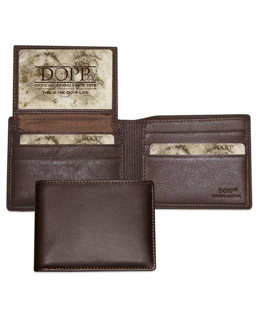 Dopp - Brown Mens Wallet, Regatta Collection Billfold Credit Card Wallet for Men - Lyst