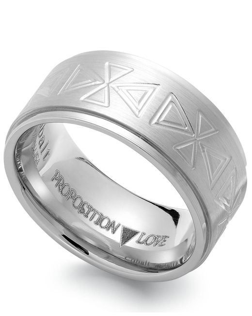 Proposition Love - Multicolor Cobalt Triangle Motif Ring - Lyst
