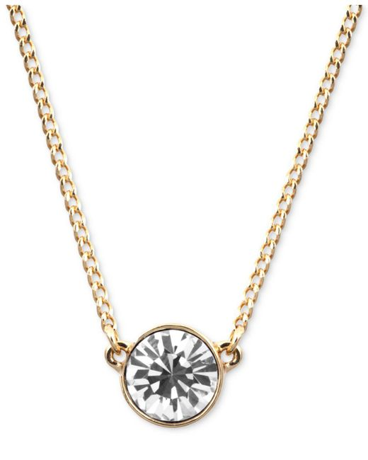 Givenchy - Metallic Necklace, Silver-tone Small Swarovski Element Pendant Necklace - Lyst