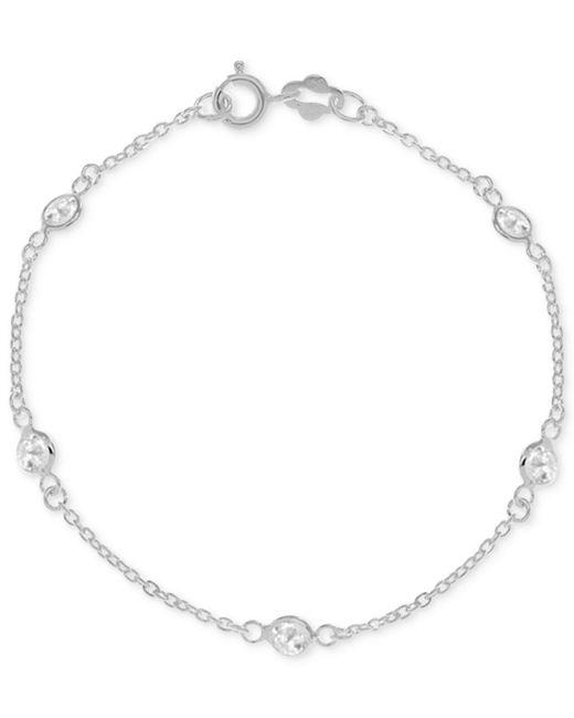 Giani Bernini - Metallic Cubic Zirconia Ankle Bracelet In Sterling Silver - Lyst