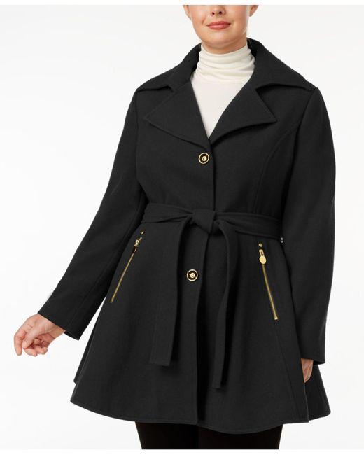 INC International Concepts - Black Plus Size Skirted Walker Coat - Lyst