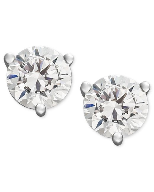 Macy's | Metallic Certified Near Colorless Diamond Stud Earrings In 18k White Or Yellow Gold (1/4 Ct. T.w.) | Lyst