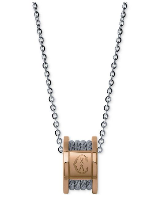 Charriol   Metallic Women's Forever Stainless Steel Cable Pendant Necklace   Lyst