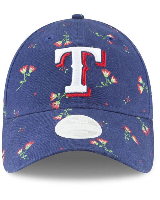 finest selection dd932 077e7 ... france ktz blue texas rangers blossom 9twenty strapback cap lyst f5cca  d9ebb