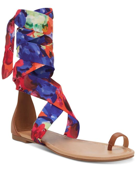 5077b0cf4 INC International Concepts Multicolor I.n.c. Medria Toe-thong Tie-up Flat  Sandals, ...