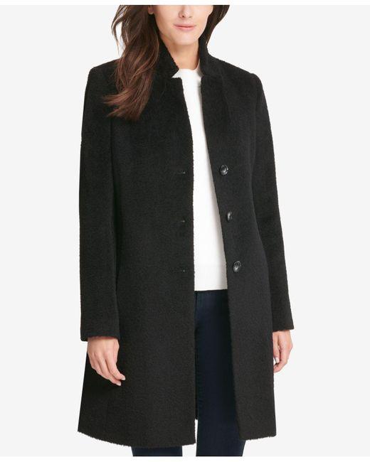 DKNY - Black Single-breasted Walker Coat, Created For Macy's - Lyst