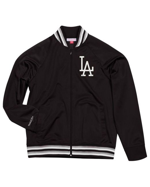 Mitchell & Ness - Black Los Angeles Dodgers Top Prospect Track Jacket for Men - Lyst