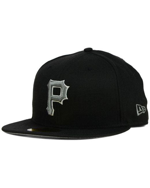 KTZ - Pittsburgh Pirates Black Graphite 59fifty Cap for Men - Lyst