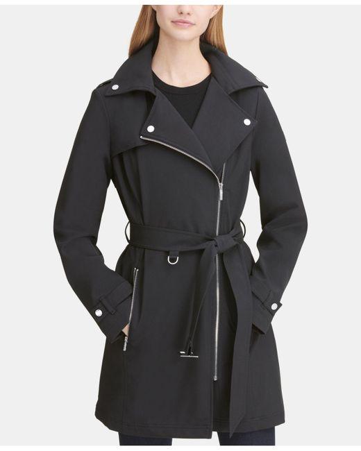 e0031dd2960 DKNY - Black Asymmetrical Trench Coat