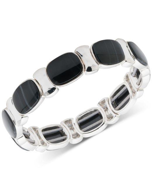 Nine West - Black Multi-stone Stretch Bracelet - Lyst