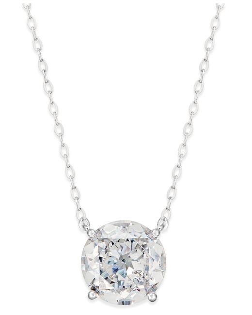 Danori - Metallic Silver-tone Crystal Pendant Necklace - Lyst